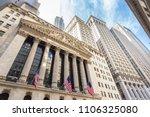 exterior of new york stock... | Shutterstock . vector #1106325080