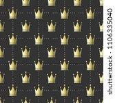 seamless pattern crown  minimal ...   Shutterstock .eps vector #1106335040
