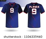 sports jersey template for team ... | Shutterstock .eps vector #1106335460