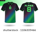 sports jersey template for team ... | Shutterstock .eps vector #1106335466
