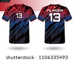 sports jersey template for team ... | Shutterstock .eps vector #1106335493