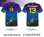 sports jersey template for team ...   Shutterstock .eps vector #1106335496