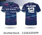 sports jersey template for team ... | Shutterstock .eps vector #1106335499