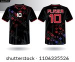 sports jersey template for team ... | Shutterstock .eps vector #1106335526