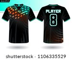 sports jersey template for team ... | Shutterstock .eps vector #1106335529