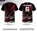 sports jersey template for team ... | Shutterstock .eps vector #1106335556