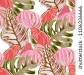 seamless pattern with tropical... | Shutterstock .eps vector #1106336666