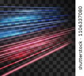 laser blue and red glow vector... | Shutterstock .eps vector #1106337080