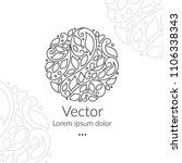 vector emblem. elegant  classic ... | Shutterstock .eps vector #1106338343