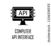 computer api interface icon....