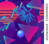 retro futuristic background... | Shutterstock .eps vector #1106344853