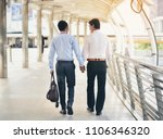 two asian business men are... | Shutterstock . vector #1106346320