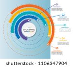 infographic template for... | Shutterstock .eps vector #1106347904