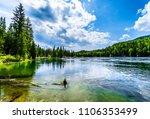 clearwater lake in wells gray...   Shutterstock . vector #1106353499