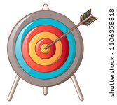 hit the target icon. cartoon of ... | Shutterstock .eps vector #1106358818