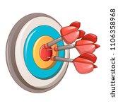 darts target icon. cartoon of...   Shutterstock .eps vector #1106358968