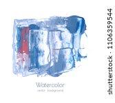 gray blue vector ink watercolor ... | Shutterstock .eps vector #1106359544
