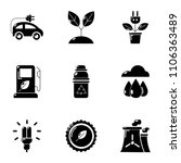 pure potency icons set. simple... | Shutterstock .eps vector #1106363489