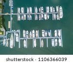 aerial view of marina with... | Shutterstock . vector #1106366039
