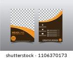 business brochure flyer design... | Shutterstock .eps vector #1106370173
