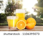 fruit orange with a leaves... | Shutterstock . vector #1106395073