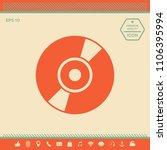 cd  dvd symbol icon | Shutterstock .eps vector #1106395994