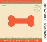 bone symbol icon   Shutterstock .eps vector #1106396780