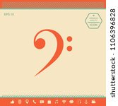 bass clef icon | Shutterstock .eps vector #1106396828