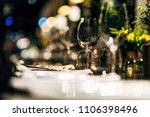 luxury table settings for fine... | Shutterstock . vector #1106398496