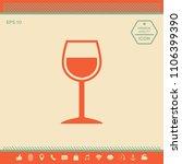 wineglass symbol icon | Shutterstock .eps vector #1106399390