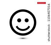 smile icon  stock vector... | Shutterstock .eps vector #1106407016