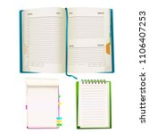 vector realistic opened notepad ... | Shutterstock .eps vector #1106407253