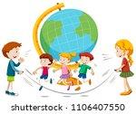 children skipping infront of...   Shutterstock .eps vector #1106407550
