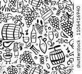 winery  seamless pattern for... | Shutterstock .eps vector #1106416940