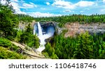 large snow melt in the cariboo...   Shutterstock . vector #1106418746