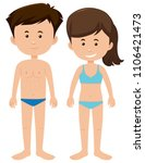 set of blank male and female... | Shutterstock .eps vector #1106421473