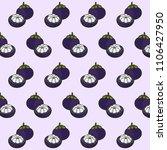purple mangosteen tropical... | Shutterstock .eps vector #1106427950