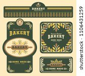 bakery branding template and... | Shutterstock .eps vector #1106431259