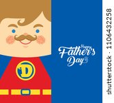 happy father's day template or... | Shutterstock .eps vector #1106432258