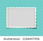 vector vintage photo frame in... | Shutterstock .eps vector #1106447456