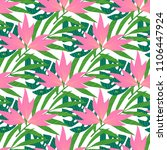 vector seamless tropical...   Shutterstock .eps vector #1106447924