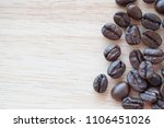 coffee beans with copy space... | Shutterstock . vector #1106451026