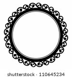 circle rose leafs frame. | Shutterstock .eps vector #110645234