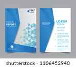 abstract geometric blue report... | Shutterstock .eps vector #1106452940