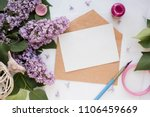 mockup card with plants.... | Shutterstock . vector #1106459669