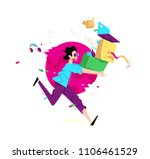 illustration of a young man... | Shutterstock .eps vector #1106461529
