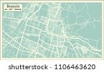 brescia italy city map in retro ... | Shutterstock . vector #1106463620