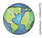 world planet earth icon | Shutterstock .eps vector #1106463770