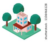 building with landscape... | Shutterstock .eps vector #1106466128