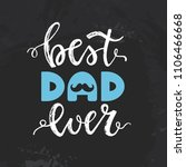 happy father's day card with a... | Shutterstock .eps vector #1106466668